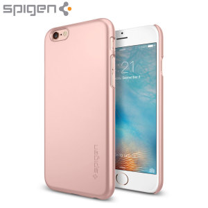 Durable and lightweight, the Spigen Thin Fit iPhone 6S Plus / 6 Plus case offers premium protection in a slim, stylish package. Carefully designed the Thin Fit case in rose gold is precisely form-fitted to the phone to highlight its original design.