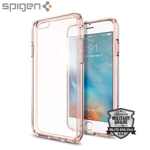 Spigen Ultra Hybrid iPhone 6S / 6 Bumper Case - Rose Crystal