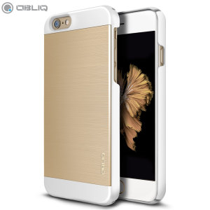 Protect your Apple iPhone 6S Plus / 6 Plus with the Obliq Slim Meta II Series case in metallic gold and white, which protects as well as providing a stunning full body protection in an attractive dual-textured design.