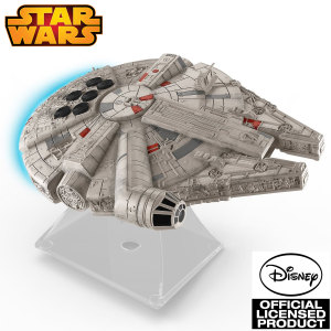 She's the fastest hunk o' junk in the galaxy and now the coolest sound system too! Enjoy great sound and great times with the Star Wars Episode VII Millennium Falcon Bluetooth speaker.