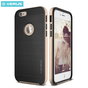 Protect your iPhone 6S Plus / 6 Plus with this precisely designed high pro shield series case in champagne gold from Verus. Made with tough dual-layered yet slim material, this hardshell body with a sleek bumper features an attractive two-tone finish.