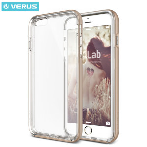 Protect your iPhone 6S Plus / 6 Plus with this precisely designed crystal / champagne gold case from Verus. Made with a sturdy yet minimalist design, this see-through case offers protection for your phone while still revealing the beauty within.