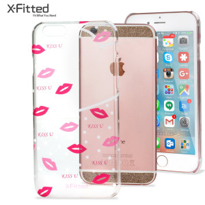 The Angel's Kiss case is designed to provide a stylish complement to your iPhone 6S / 6. Featuring a robust polycarbonate construction, anti-fingerprint coating and metallic charming kiss lips design elements.