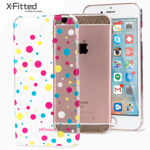 The Multicoloured Dots case is designed to provide a fun and attractive complement to your iPhone 6S / 6. Featuring robust clear polycarbonate construction, anti-fingerprint coating and pink, yellow, white and blue dots overlay.