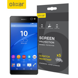 Keep your Sony Xperia C5 Ultra screen in pristine condition with this Olixar scratch-resistant screen protector 5-in-1 pack.