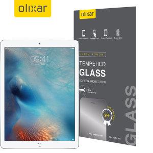 Ultimativer Displayschutz für ihr iPad Pro 12.9 Zoll aus Premium-Echtglas mit einer oleophoben Beschichtung und Splitterschutzfolie.