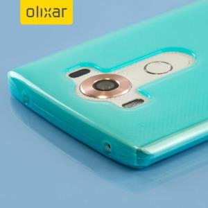 Skräddarsydd till din LG V10 . Gelskalet FlexiShield från Olixar i blå erbjuder en tunn passform, snygg design och ett hållbart skydd mot skador och ser till att din LG V10 ser bra ut hela tiden.