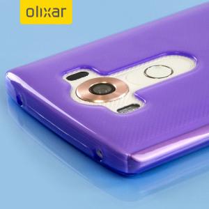 Skräddarsydd till din LG V10 . Gelskalet FlexiShield från Olixar i lila erbjuder en tunn passform, snygg design och ett hållbart skydd mot skador och ser till att din LG V10 ser bra ut hela tiden.