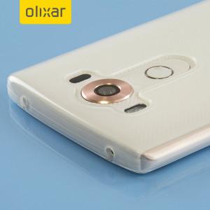 Skräddarsydd till din LG V10 . Gelskalet FlexiShield från Olixar i frostvit erbjuder en tunn passform, snygg design och ett hållbart skydd mot skador och ser till att din LG V10 ser bra ut hela tiden.