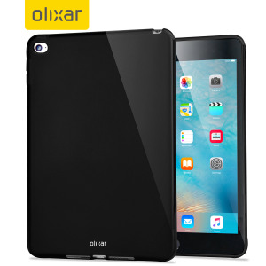 This solid black FlexiShield for the iPad Mini 4 provides crystal case like protection with the durability of a silicone case.