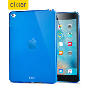This blue FlexiShield for the iPad Mini 4 provides crystal case like protection with the durability of a silicone case.