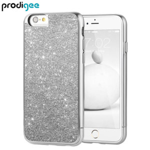 Add a touch of bling to your iPhone 6S Plus / 6 Plus, whilst keeping it well protected with the silver Sparkle Fusion Glitter Case from Prodigee. Slim, light and incredibly attractive, this case really does have it all and is screen protector friendly.