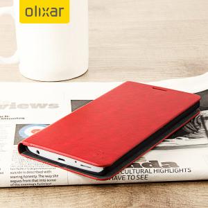 Beskytt din LG V10 samtidig som du holder dine kort og penger sikre med lommeboks dekslet Olixar i lærstilformat.