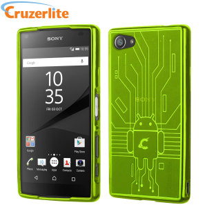 Keep your Sony Xperia Z5 Compact protected from damage with this Android-circuitry inspired, durable green coloured TPU case by Cruzerlite.