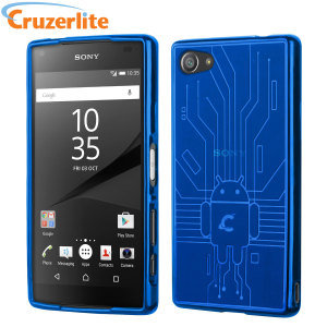 Keep your Sony Xperia Z5 Compact protected from damage with this Android-circuitry inspired, durable blue coloured TPU case by Cruzerlite.