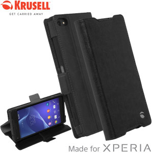 The Ekero Folio Wallet Cover from Krusell in black is beautifully crafted in a textured material with a slim look which offers fantastic all round protection for Sony Xperia Z5 Compact. This is a classic option to protect your most important belongings.