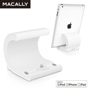 Macally Lightning Sync & Charge Desktop Dock with UK Mains
