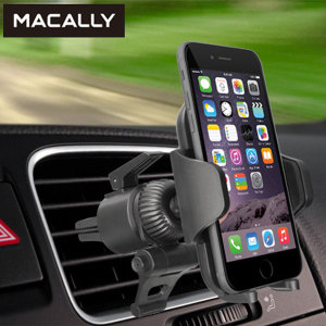 Keep your phone close at hand and safely in view while driving with the Macally Venti Universal Air Vent Holder with one hand mounting & dismounting.