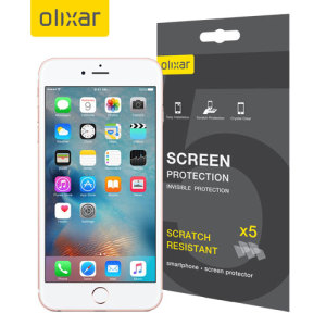 Keep your iPhone 6S' screen in pristine condition with this Olixar scratch-resistant screen protector 5-in-1 pack. Ultra responsive and easy to apply, these screen protectors are the ideal way to keep your display looking brand new.