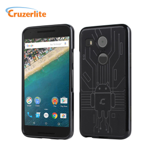 Keep your Nexus 5X protected from damage with this Android-circuitry inspired, durable black coloured TPU case by Cruzerlite.
