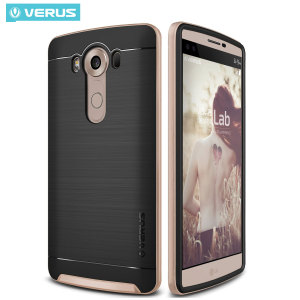 Protect your LG V10 with this precisely designed high pro shield series case in shine gold from Verus. Made with tough dual-layered yet slim material, this hardshell body with a sleek bumper features an attractive two-tone finish.