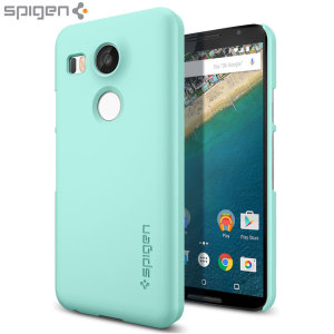 Durable and lightweight, the Spigen Thin Fit series for the Nexus 5X offers premium protection in a slim, stylish package. Carefully designed the Thin Fit case in mint is form-fitted for a perfect fit.