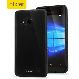 Coque Microsoft Lumia 550 Gel FlexiShield - Noire Solide