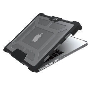 The Urban Armour Gear ash black tough case for the Apple MacBook Pro 13 inch with Retina Display comprises of a protective TPU case with a brushed metal UAG logo insert for an amazing design that compliments your MacBook perfectly.