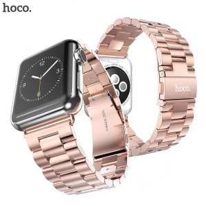 With this beautiful stainless steel link bracelet in rose gold from Hoco, express yourself and customise your new Series 2 / 1 Apple Watch 42mm to suit your personal sense of style.