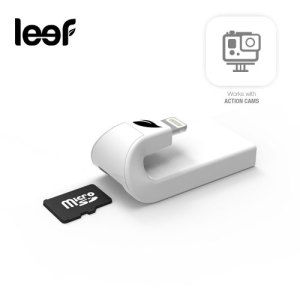 Backup, store and share your favourite photos, videos and music on your iOS devices with this expandable storage solution by Leef for iOS Lightning Devices with built-in Micro SD slot.
