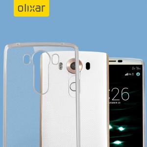 Skräddarsydd till din LG V10 . Det här genomskinliga gelskalet FlexiShield från Olixar erbjuder en tunn passform, snygg design och ett hållbart skydd mot skador och ser till att din LG V10 ser bra ut hela tiden.