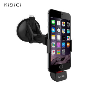 The perfect way to dock and charge your iPhone 6S Plus / 6 Plus / 6S / 6 safely with this Apple certifited 'Made for iPhone' car mount kit from Kidigi.