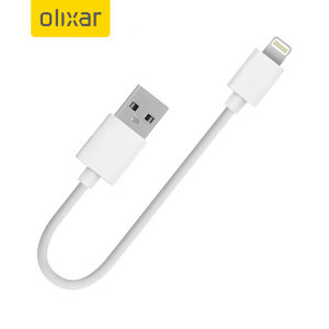 Olixar 10cm Short Lightning to USB Charge and Sync Cable - White
