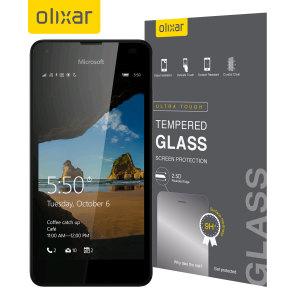 Ultimativer Displayschutz für das Microsoft Lumia 550 aus Premium-Echtglas mit einer oleophoben Beschichtung und Splitterschutzfolie.
