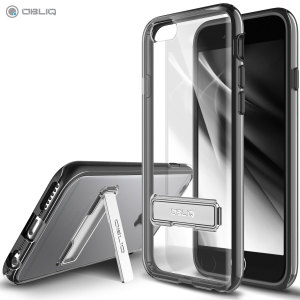 Keep your iPhone 6/6S protected from damage with the durable and attractive clear and black polycarbonate shell case from Obliq.