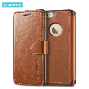 The Verus Dandy Wallet Case in brown for the iPhone 6S Plus/6 Plus comes complete with card slots, a large document pocket and is made with a luxurious leather-style material for a classic, prestige and professional look.