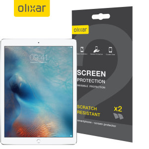 Keep your iPad Pro 12.9 2017 / 2015's screen in pristine condition with this Olixar scratch-resistant screen protector 2-in-1 pack. Ultra responsive and easy to apply, these screen protectors are the ideal way to keep your display looking brand new.