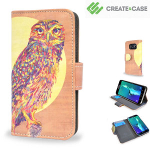 Add flair and individuality to your Samsung Galaxy S6 Edge Plus with this beautiful Watercolour Owl leather-style stand case from Create and Case, designed by the talented artist Jacqueline Maldonado.