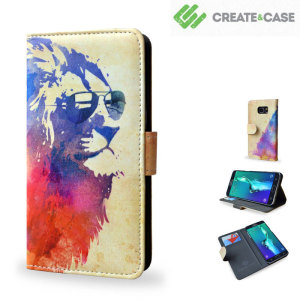 "Stand out from the crowd with the striking Create and Case ""Sunny Leo"" book case for the Samsung Galaxy S6 Edge Plus. Featuring credit card slots and a money pouch, this Case allows you to travel lighter when out and about."