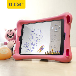 Let your child use your iPad Mini 4 without worrying with the extremely robust and fun Olixar Child-Friendly Silicone Case in pink. With anti-shock corners the Big Softy protects against the rigours of everyday use.