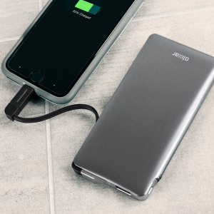 More than quadruple the battery life of your smartphone with this slim, lightweight 6000mAh power bank from Olixar, ensuring your Micro USB and Lightning compatible devices are fully charged when you need them the most. Includes integrated charging cable.