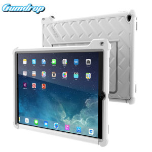 The multi-angle Hideaway Stand Case from Gumdrop in white / grey for the iPad Pro 12.9 2015 features reinforced rubber bumpers and a built-in slot for the Apple Pencil, allowing you to keep your precious new iPad safe and secure at all times.