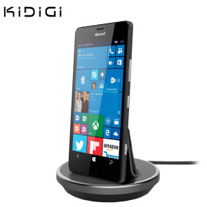 Synchronise and charge your Microsoft Lumia 950 with this stylish and case compatible desktop dock which also acts as a multimedia stand. Supports USB-C (USB Type-C).