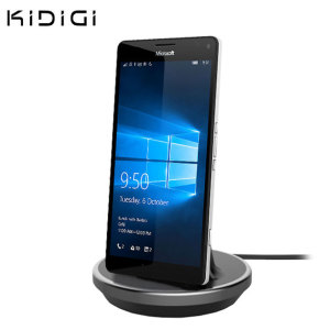 Synchronise and charge your Microsoft Lumia 950 XL with this stylish and case compatible desktop dock which also acts as a multimedia stand. Supports USB-C (USB Type-C).