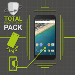 Guard your beautiful Google Nexus 5X from damage with the Olixar Total Protection Pack. Featuring an ultra-slim case and an ultra-response glass screen protector, this pack provides the ultimate in lightweight protection.