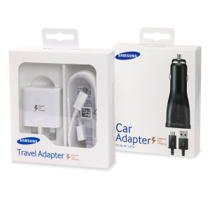 Featuring the genuine Samsung Adaptive Fast Mains Charger and genuine Samsung Adaptive Fast Car Charger, this pack is perfect for fast charging your Galaxy S6, S6 Edge, S6 Edge +, Note 5 and Note 4.