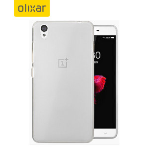 Custom moulded for the OnePlus X, this frost white FlexiShield case by Olixar provides slim fitting and durable protection against damage.