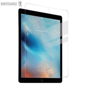 BodyGuardz Pure Premium Glas Displayschutz ist aus ultra dünnem gehärteten Glas hergestellt. Sie schützt den iPad Pro 12.9 Zoll Touchscreen vor Beschädigungen.