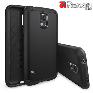 Provide your Samsung Galaxy S5 with slim yet heavy duty protection with this smooth finish black Ringke dual-layered armour case. The design and soft touch finish preserve the aesthetic and feel of the S5.