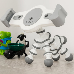 Attractive, useful and more importantly, fun! - this novelty dog universal tablet holder from Olixar will secure your device within its tender loving jaws - with adjustable legs, tail and head for finding the perfect viewing angle.